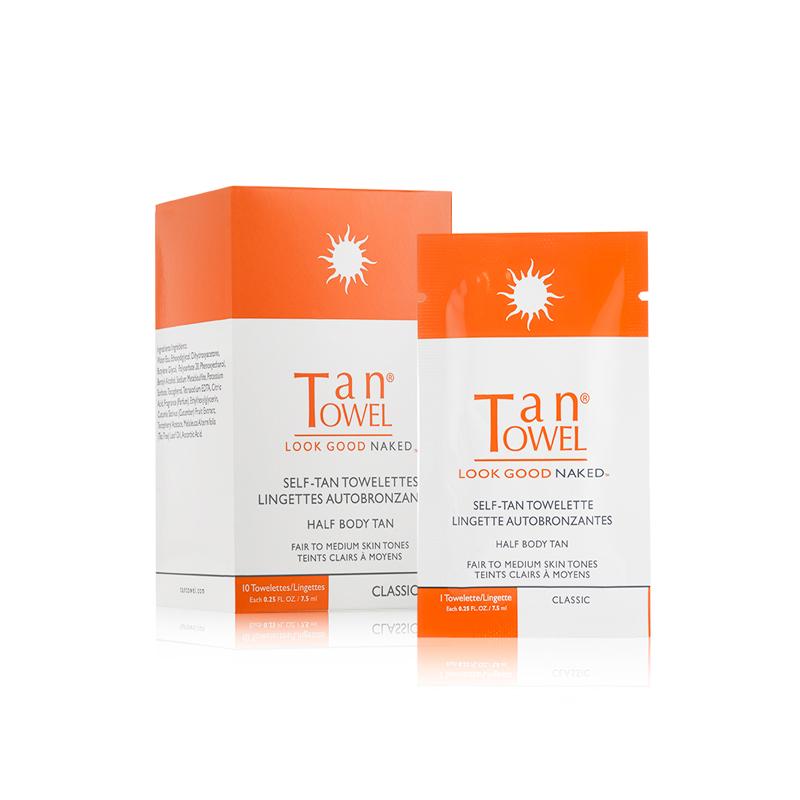 Tan Towel - Lingettes auto-bronzantes demi-corps